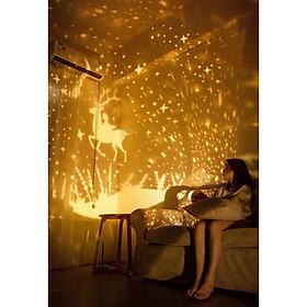 Đèn ngủ chiếu sao thông minh, cổ tích, đại dương, sinh nhật xoay tự động đèn LED lãng mạn