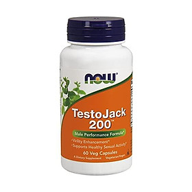 NOW TestoJack 200, 120 Veg Caps