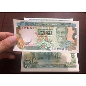 Tờ tiền cổ 20 Kwacha Zambia, quốc gia nghèo châu Phi