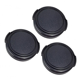 3pcs  Lens Cap Camera Protective Lid Cap Front Cover 34/37 / 40.5 / 43/49/39 / 46mm For Nikon Canon Sony