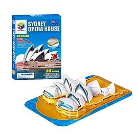 Mô Hình Giấy 3D Magic Puzzle: Nhà Hát Opera Sydney B668-8 (30 Chi Tiết)