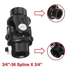 """Universal U Joint 3/4"""" - 36"""" Spline X 3/4"""" DD Chrome Steering SI-AT45012"""