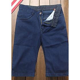 Quần short jean nam xanh cào xước Q168