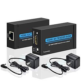 Bộ Mở Rộng Tín Hiệu HDMI Hỗ Trợ Cáp Đơn Cat 5E / 6 / 6A LAN Và EDID (60M)