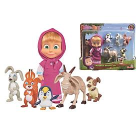 Đồ Chơi Búp Bê Và Thú Cưng Dành Cho Bé MASHA AND THE BEAR Masha's Animal Set 109301060 - Đồ Chơi Simba Chính Hãng