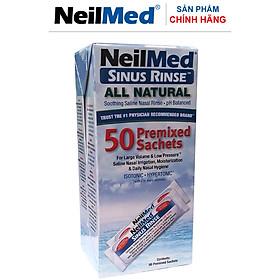 Gói Hỗn Hợp Muối Rửa Mũi Xoang Người Lớn- NeilMed SinusRinse Adult 50 Sachets  - Xuất xứ Mỹ.(Hộp 50 gói)