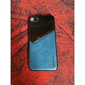 Ốp Lưng Kính Màu Và Da Cao Cấp Dành Cho Iphone SE 2020