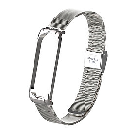 Metal Strap Wristband For Mi Band 3 4 Replacement Business Durable Metal Screwless Stainless Steel Bracelet Band For