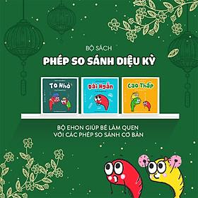 Combo 3 cuốn truyện tranh Ehon Nhật Bản - Phép so sánh kỳ diệu (To nhỏ, dài ngắn, cao thấp) - Dành cho trẻ 2 tuổi +