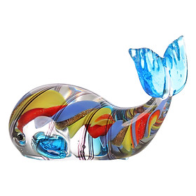 Tượng Thủy Tinh Trang Trí Hình Cá Voi Tooarts