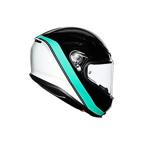 Nón bảo hiểm Fullface -  K6 AGV MINIMAL BLACK/PEARL WHITE/AQUA