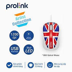 Chuột có dây PROLiNK PMC1005 GBR 1200dpi/3-button- Hàng chính hãng