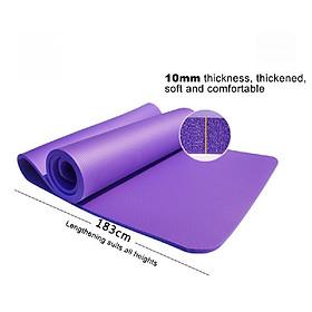 Thickened Yoga Mat Multi-functional Non-slip Yoga Mats 1830mm*610mm*10mm Grey-1