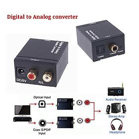Bộ chuyển OPTICAL sang AUDIO AV + Cáp Optical Audio