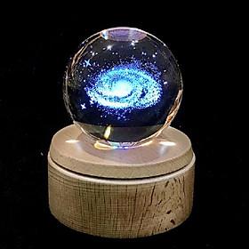 Hộp nhạc quả cầu pha lê 3D-Dải Ngân Hà