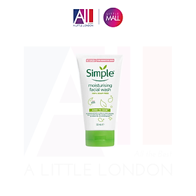 Sữa rửa mặt cho da khô Simple Moisturising Facial Wash 50ml dạng tuýp (Bill Anh)