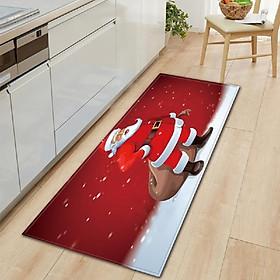 Christmas Style Non-slip Carpet Home Decoration Living Room Kitchen Bedroom Rug Door Sofa Bathroom Mat Christmas Doormat