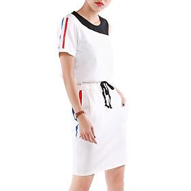 Set Áo Lệch Vai Và Chân Váy Suông Set047 - Free Size