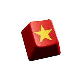 Keycap cờ đỏ sao vàng E-dra dành cho bàn phím cơ - Nhựa PBT - Hàng chính hãng