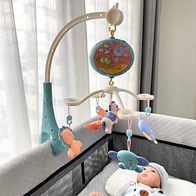 Đồ chơi treo nôi chiếu sao phát nhạc ru ngủ chính hãng Umoo với 12 bài nhạc du dương, truyện kể trước lúc đi ngủ cho bé yêu (100% tiếng anh)