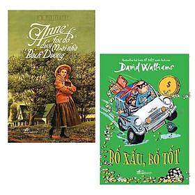 Combo 2 Cuốn Sách Văn Học Cực Hay:  Anne Tóc Đỏ Dưới Mái Nhà Bạch Dương (Tái Bản 2019) + Bố Xấu , Bố Tốt / Sách Văn Học Thiếu Nhi (Tặng Kèm Bookmark Thiết Kế Green Life)