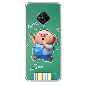 Ốp lưng dẻo cho điện thoại Vivo S1 PRO - 0119 PIG20 - Hàng Chính Hãng