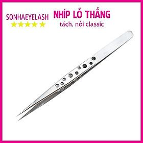 Nhíp nối mi classic lỗ thẳng, nhíp tách mi thẳng lỗ được làm từ thép không gỉ, nhíp có lỗ tạo độ bám cầm chắc tay