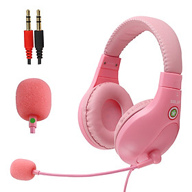 A566E Computer Wired Headphone Student Lightweight Noise Cancelling Headset with Microphone for Online Study Education