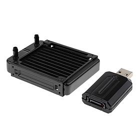 Aluminum Radiator Water  Exchanger +USB To SATA Hard Drive Adapter