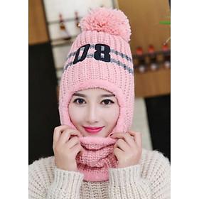 Mũ len, nón len 2 phong cách tua rua số 08 A011