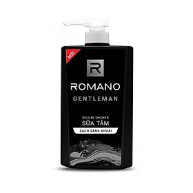 Sữa tắm cao cấp Romano Gentleman lịch lãm nam tính sạch sảng khoái 650gr