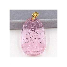 Hình đại diện sản phẩm Mặt Phật Đại Nhật như lai pha lê hồng
