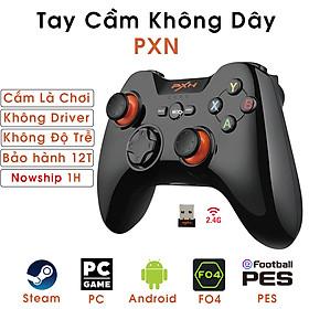 Tay Cầm Chơi Game Không Dây Có Rung PXN9603 - Hàng Chính Hãng
