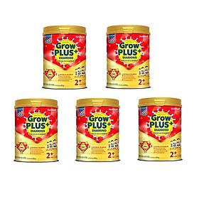 Bộ 5 Lon Sữa Bột NutiFood GrowPLUS+ Diamond 2+ Dinh Dưỡng Cao Năng Lượng Cho Trẻ Suy Dinh Dưỡng, Thấp Còi - 850g