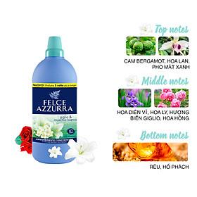 Nước xả vải đậm đặc hương nước hoa Ý Felce Azzurra hương hoa Lily và xạ hương trắng 1.025 L