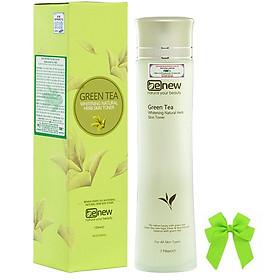 Nước hoa hồng trắng da trà xanh Benew Green Tea Whitening Natural Herb Skin Toner (150ml) kèm nơ