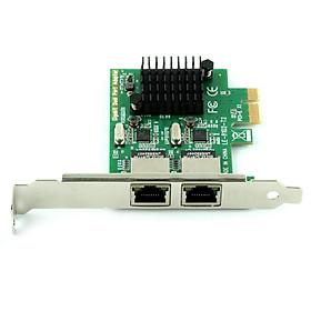 Card Mạng LAN Ubit RJ45 x 2 Gigabit Ethernet PCI Express Cho Màn Hình Máy Tính Bàn 8102_T2