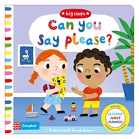 Can You Say Please?: Learning About Manners - Big Steps (Board book)