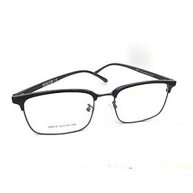 Gọng kính nửa gọng cao cấp nam dáng vuông thời trang, hiện đại- SK88015- C1- đen