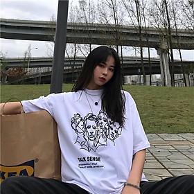 Áo thun oversize nam nữ  talk sense chất liệu vải tốt cotton M L XL màu trắng Trumunisex