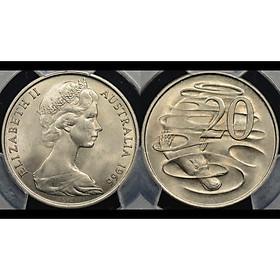 Đồng xu Úc 20 cent in hình Nữ hoàng Elizabeth II còn trẻ