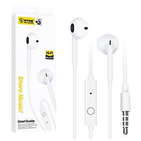Tai nghe có dây nhét tai Viniel S11 Super Bass cho IPHONE/IPAD/SAMSUNG/Android (trắng) - Hàng chính hãng