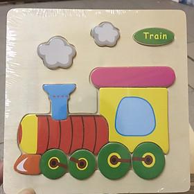 Tranh Ghép Gỗ Nổi Động Vật Chọn Mẫu - Tặng kèm túi zip đựng tranh và bộ Ebooks sách nuôi dạy con