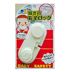 Chốt cửa tủ an toàn cho bé (màu trắng) nội địa Nhật Bản
