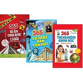 Combo 365 bí ẩn chưa được lí giải - 365 sự thật bạn cần biết - 365 thí nghiệm khoa học dành cho trẻ em ( Tặng kèm sổ tay giao ngẫu nhiên)