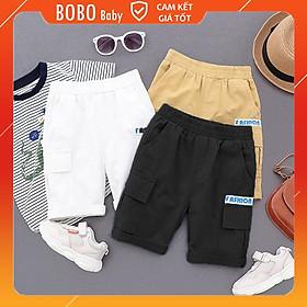 Quần Sooc Size Đại Fashion Quần Short Kaki Xuất Xịn Cho Bé Trai Và Bé Gái BOBO Baby QS01