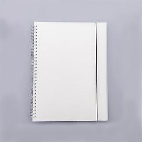 Sổ lò xo bìa trong suốt giấy trắng trơn cỡ B5 - 176x250mm