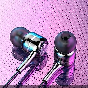 Tai nghe có dây nhét tai V5 phiên bản 2020 âm thanh trung thực, khử tiếng ồn chống nhiễu tốt, dùng được cho cả iOS và Android