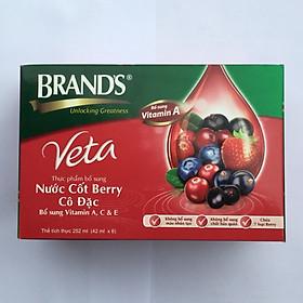 Hộp 6 lọ Nước cốt Berry cô đặc Brand's Veta 42ml từ Thái Lan