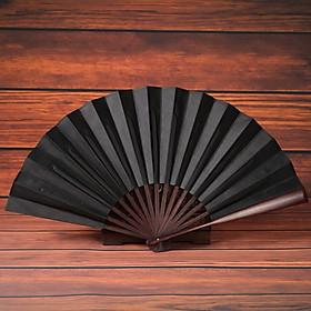 Quạt xếp cầm tay phong cách Trung Quốc quạt cổ trang màu trơn tặng ảnh Vcone